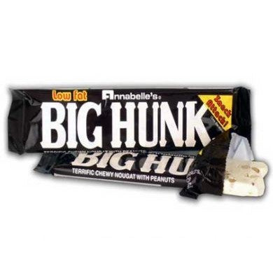 Big Hunk Bar roasted peanuts covered in honey nougart