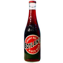 Boylan Creamy Red Birch Beer Glass Bottle