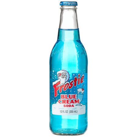 Frostie Blue Cream Soda Glass Bottle
