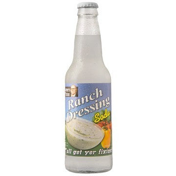 Ranch Dressing flavored glass bottle soda