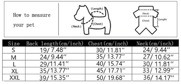How to measure your pet - Cute Dog Hoodie Ropa | Size Guidance | Attapet.com