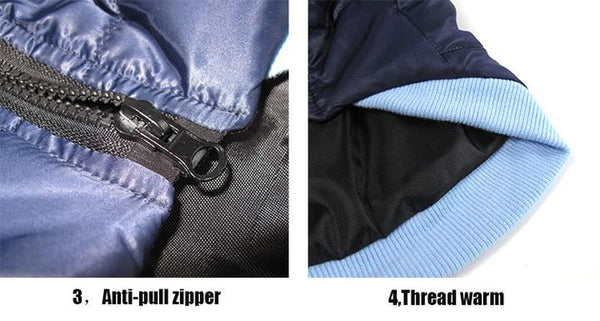 Product Detail Image 2 - Satin Waterproof Winter Hoodie Vest for Dog & Cat with Zipper | Attapet.com