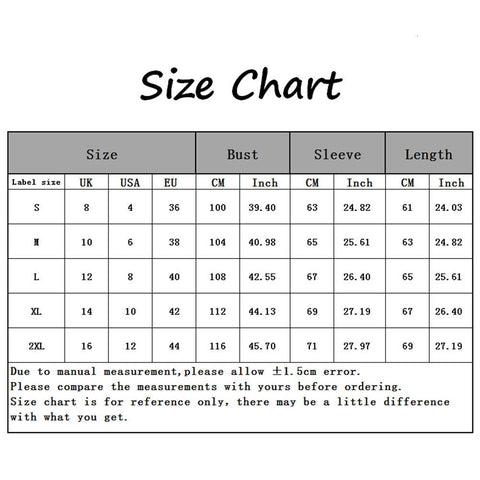 Size Guide - 3.5D Cat Printing Women's Casual Hoodie Sweatshirt, Long Sleeve With Pocket | Attapet