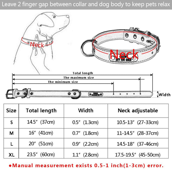 Vintage Leather Pet Collar Size Guide   Personalized Pet ID Classic Leather Fashion Dog Cat Collar   Attapet