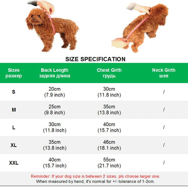 How to measure your cats/dogs - Glorious Faux Fur Collar Warm Windproof Fleece Lined Pet Parka Jacket | Attapet.com