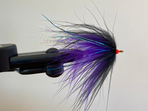 JB Reverse Tie Intruder Fly - Marabou Black/Purple