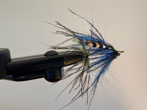 JB Intruder Fly - Ostrich Black/Blue/JC Eyes