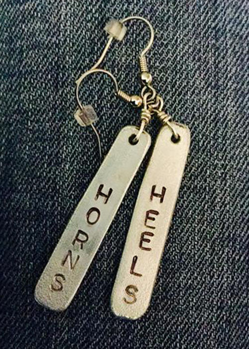 Horns And Heels Womens Ranch Rodeo Wear Earrings