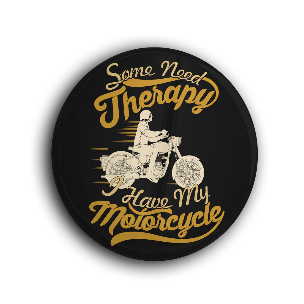 Motorcycle Therapy Badge - WANDERLOOMS