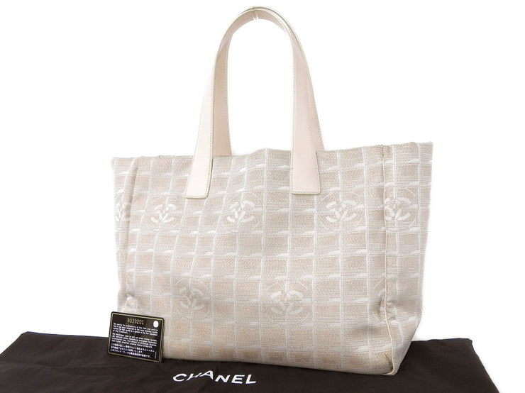 Beautiful [CHANEL Chanel] New Travel Line Nylon Tote Bag Shoulder Pink Beige 9th [20180808]