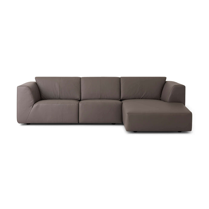Morten Sectional Sofa with Chaise - Leather - Hausful - Modern Furniture, Lighting, Rugs and Accessories