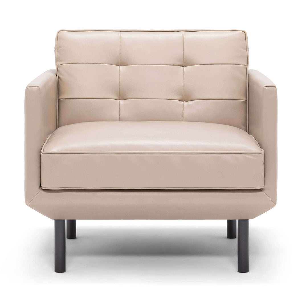 Plateau Club Chair - Pull Back - Leather - Hausful - Modern Furniture, Lighting, Rugs and Accessories