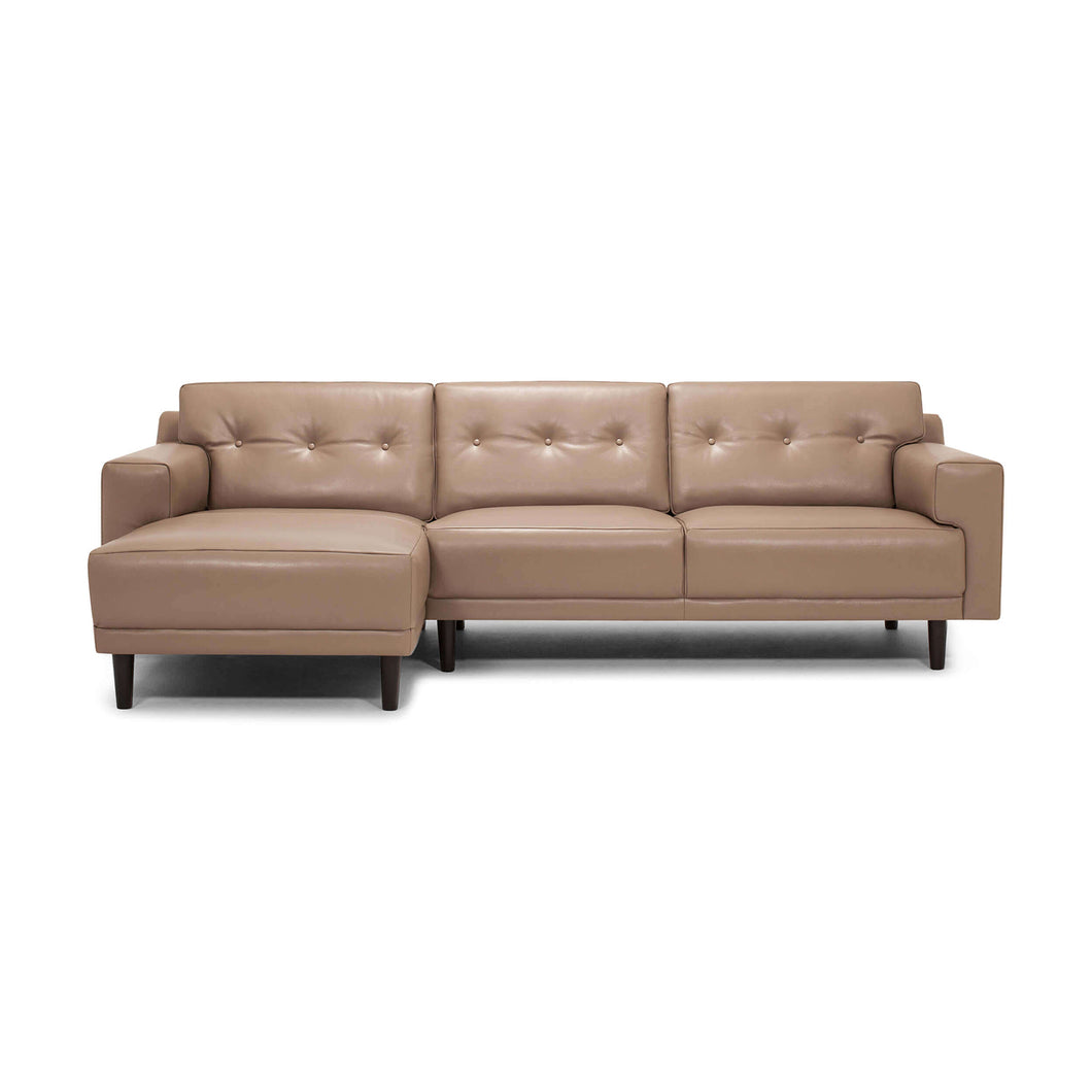 Remi 2-Piece Sectional Sofa with Chaise - Leather - Hausful - Modern Furniture, Lighting, Rugs and Accessories
