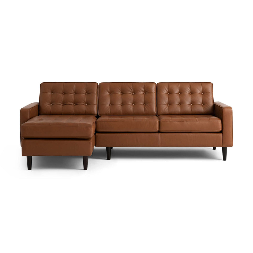 Reverie 2-Piece Sectional Sofa with Grand Chaise - Leather - Hausful - Modern Furniture, Lighting, Rugs and Accessories