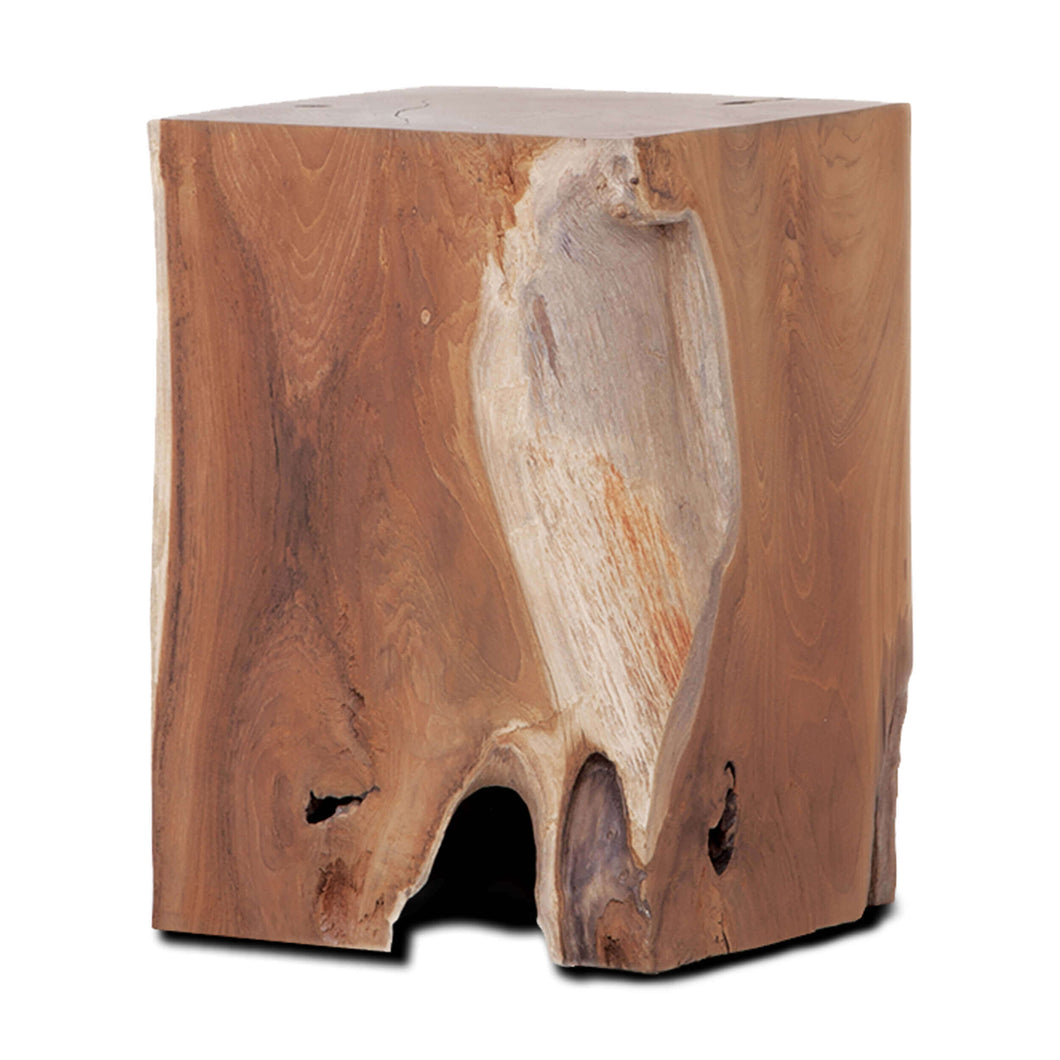 Solid Teak Wood Stool - Rectangle - Hausful - Modern Furniture, Lighting, Rugs and Accessories