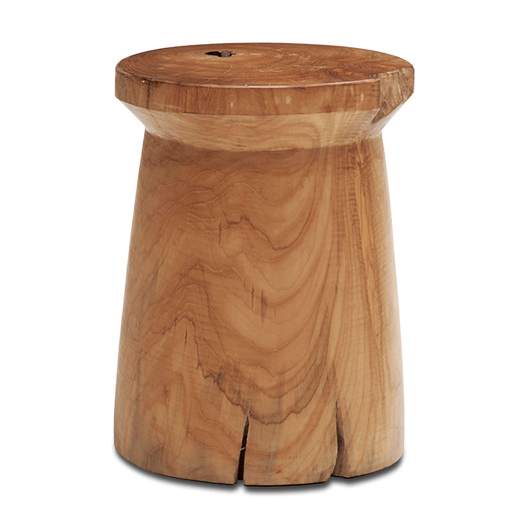 Solid Teak Wood Stool - Round - Hausful - Modern Furniture, Lighting, Rugs and Accessories
