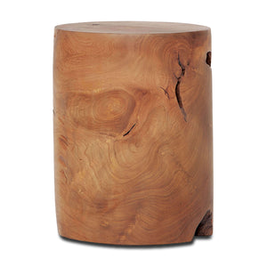 Solid Teak Wood Stool - Cylinder - Hausful - Modern Furniture, Lighting, Rugs and Accessories