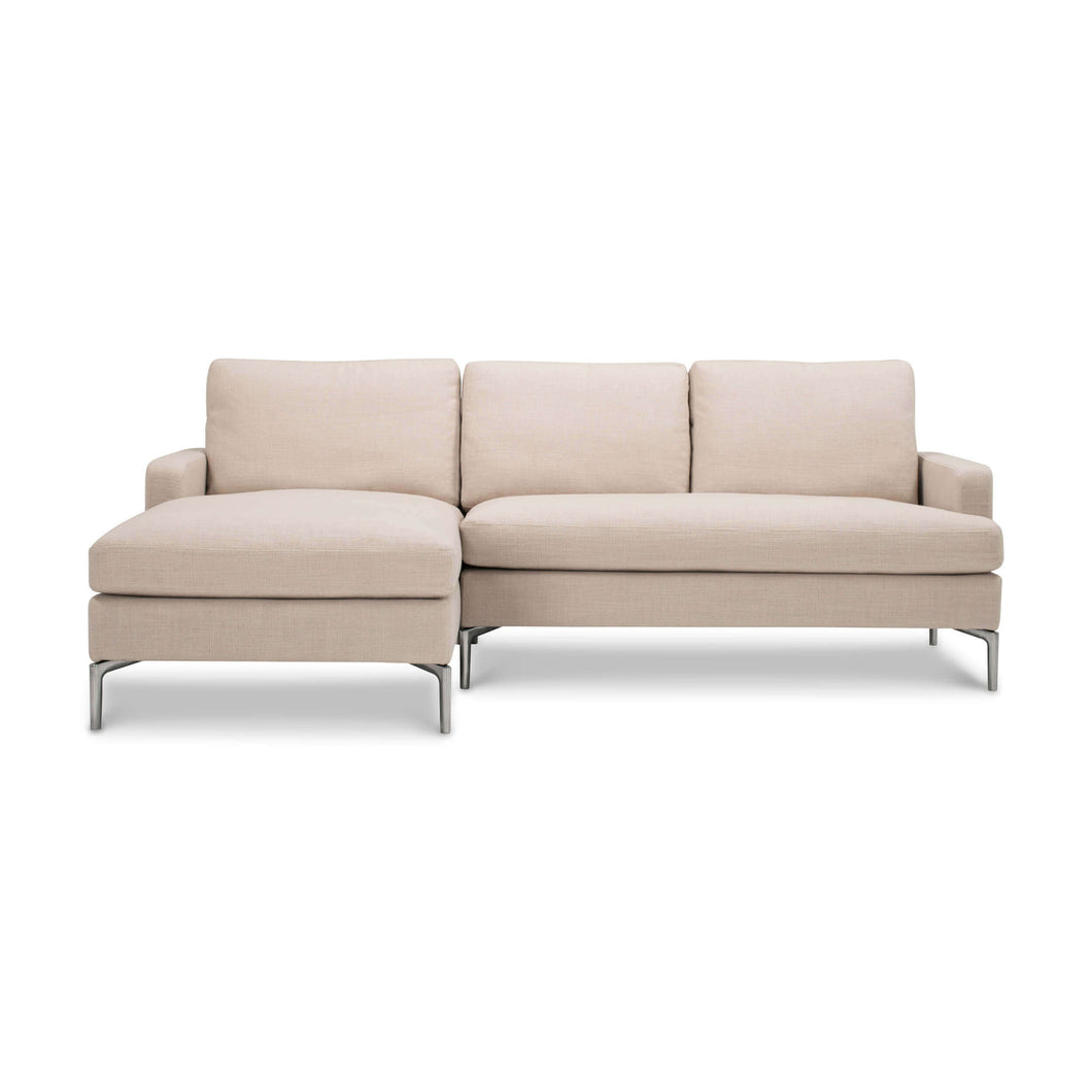 Eve 2-Piece Sectional Sofa with Chaise - Fabric - Hausful - Modern Furniture, Lighting, Rugs and Accessories