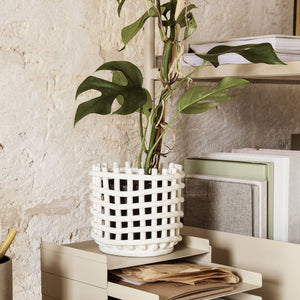 Ceramic Basket - Hausful - Modern Furniture, Lighting, Rugs and Accessories