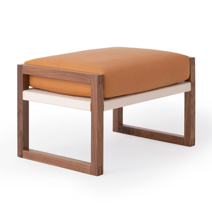 Chiara Ottoman - Leather - Hausful - Modern Furniture, Lighting, Rugs and Accessories