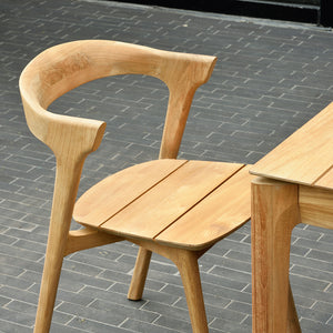 Teak Bok Outdoor Dining Chair - Hausful - Modern Furniture, Lighting, Rugs and Accessories