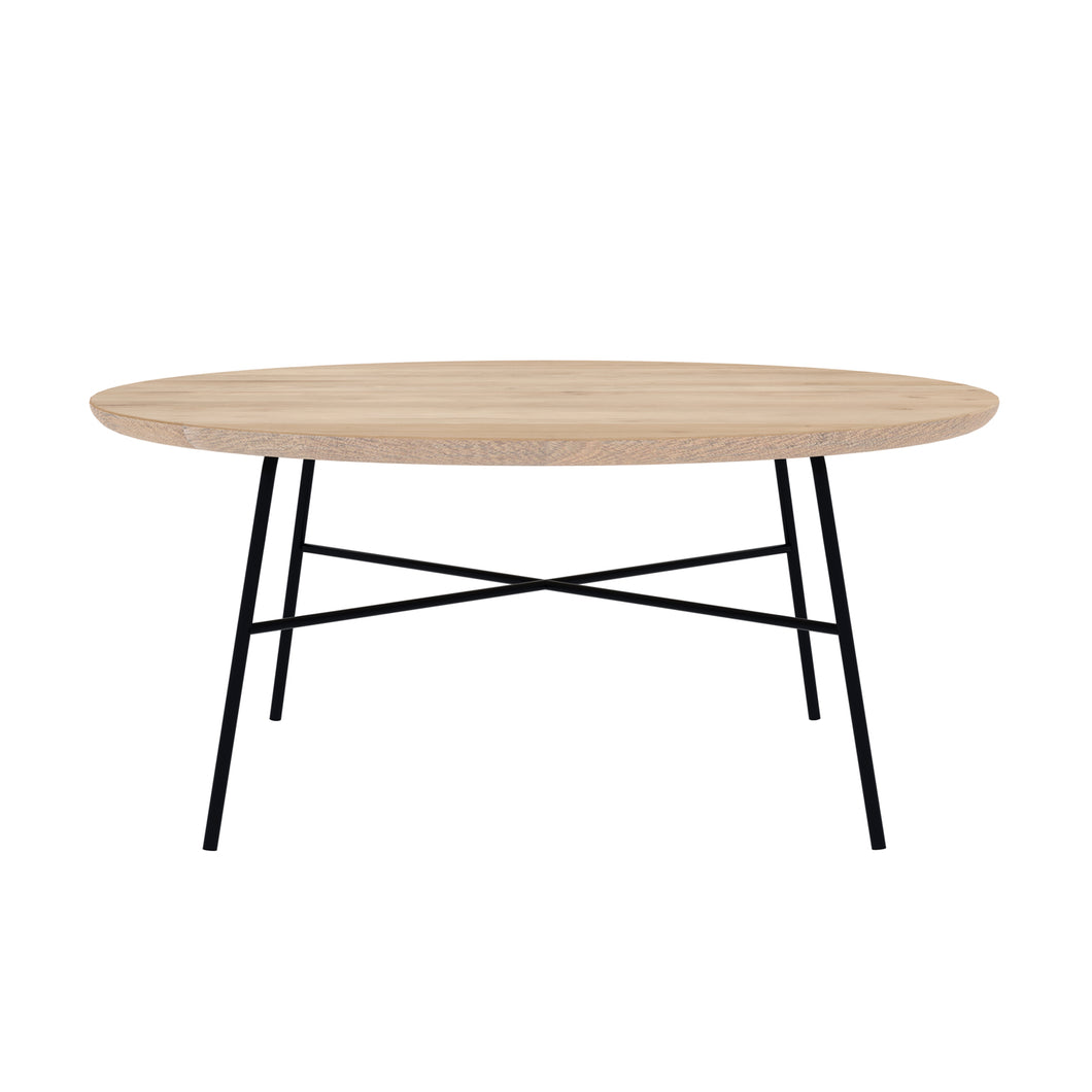 Oak Disc Round Coffee Table - Hausful - Modern Furniture, Lighting, Rugs and Accessories