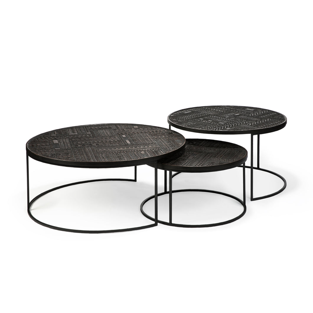 Teak Tabwa Round Nesting Coffee Table Set - Hausful - Modern Furniture, Lighting, Rugs and Accessories
