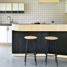 Load image into Gallery viewer, Oak Baretto Bar Stool - Hausful - Modern Furniture, Lighting, Rugs and Accessories
