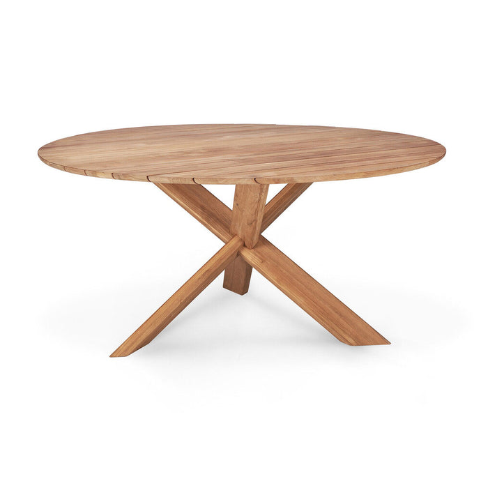 Teak Circle Outdoor Dining Table - Hausful - Modern Furniture, Lighting, Rugs and Accessories