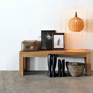 Oak Straight Bench - Hausful - Modern Furniture, Lighting, Rugs and Accessories