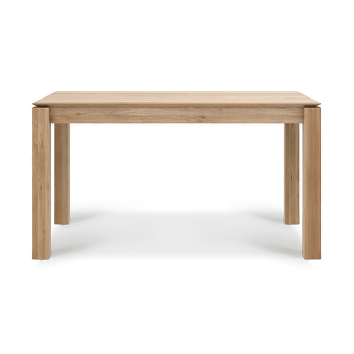 Teak Slice Extendable Dining Table - 55
