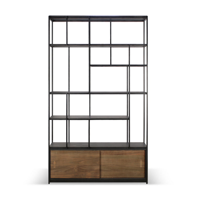 Teak Studio Rack - 2 doors - Hausful - Modern Furniture, Lighting, Rugs and Accessories