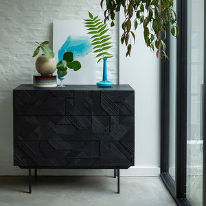 Teak Graphic Chest of Drawers - Hausful - Modern Furniture, Lighting, Rugs and Accessories