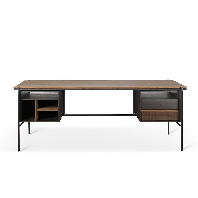 Teak Oscar Desk with Drawers - Hausful - Modern Furniture, Lighting, Rugs and Accessories