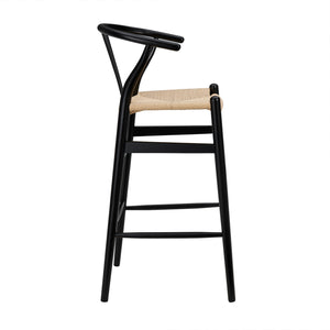 Wishbone Bar Stool - Black - Hausful - Modern Furniture, Lighting, Rugs and Accessories