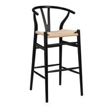 Load image into Gallery viewer, Wishbone Bar Stool - Black - Hausful - Modern Furniture, Lighting, Rugs and Accessories