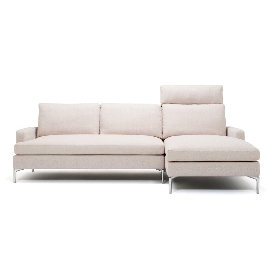Eve Grand 2-Piece Sectional Sofa with Headrest - Fabric - Hausful - Modern Furniture, Lighting, Rugs and Accessories