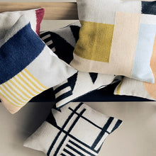 Load image into Gallery viewer, Black Lines Kelim Cushion - Hausful - Modern Furniture, Lighting, Rugs and Accessories