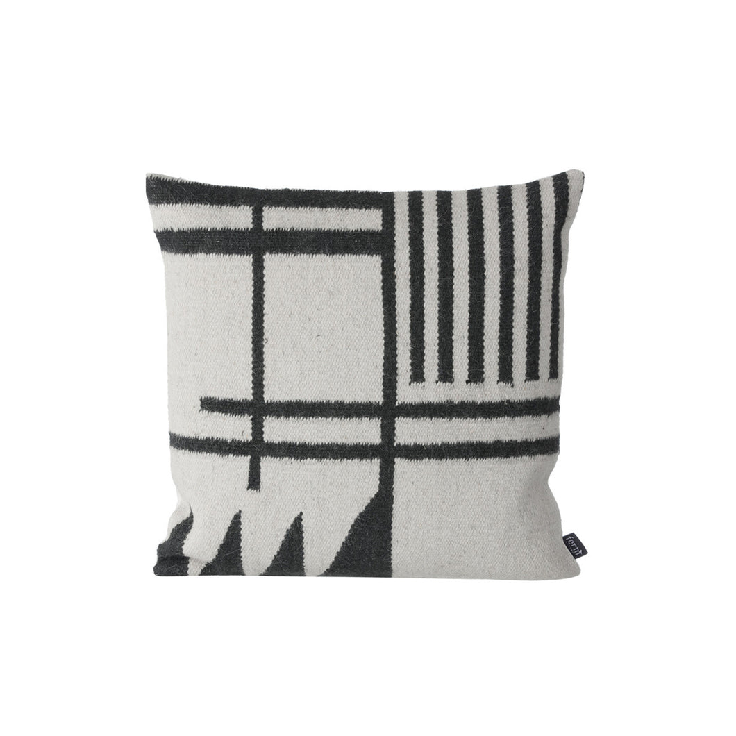 Black Lines Kelim Cushion - Hausful - Modern Furniture, Lighting, Rugs and Accessories