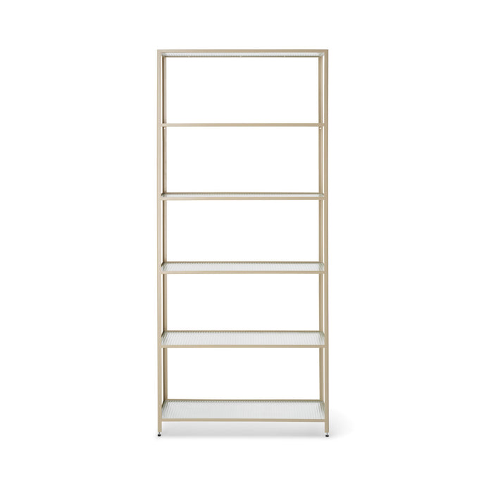 Haze Bookcase - Reeded glass - Hausful - Modern Furniture, Lighting, Rugs and Accessories