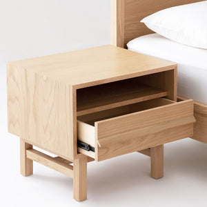 Marcel Nightstand Open Shelf - Oak - Hausful - Modern Furniture, Lighting, Rugs and Accessories
