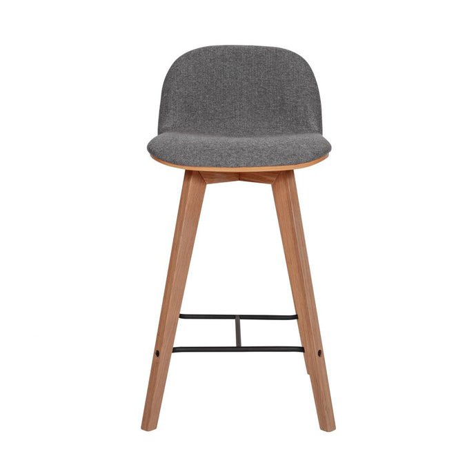 Napoli Counter Stool - Grey - Hausful - Modern Furniture, Lighting, Rugs and Accessories