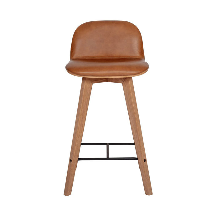 Napoli Leather Counter Stool - Hausful - Modern Furniture, Lighting, Rugs and Accessories