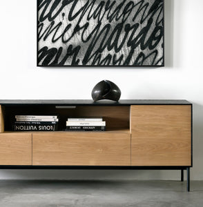 Oak Blackbird TV Cupboard - Hausful - Modern Furniture, Lighting, Rugs and Accessories