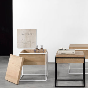 Oak Monolit Side Table - Black - Hausful - Modern Furniture, Lighting, Rugs and Accessories