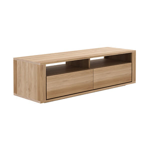 Oak Shadow TV Cupboard - 2 Drawers - Hausful - Modern Furniture, Lighting, Rugs and Accessories