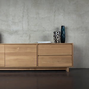 "Oak Wave TV Cupboard - 83"" - Hausful - Modern Furniture, Lighting, Rugs and Accessories"