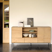 Load image into Gallery viewer, Oak Whitebird Open Shelf Sideboard - Hausful - Modern Furniture, Lighting, Rugs and Accessories