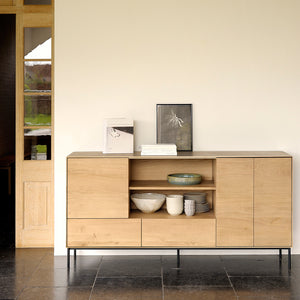 Oak Whitebird Open Shelf Sideboard - Hausful - Modern Furniture, Lighting, Rugs and Accessories