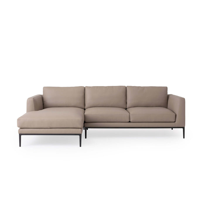 Oma 2-Piece Leather Sectional Sofa with Chaise - Hausful - Modern Furniture, Lighting, Rugs and Accessories